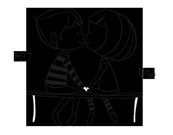 Dibujo De Jóvenes Enamorados Para Colorear Cuties Love Doodles
