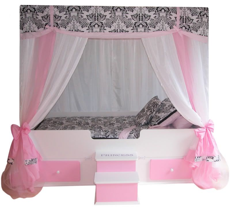 For The Sophisticated Young Girl, We Now Offer The Sophia Princess Canopy  Bed With Pink