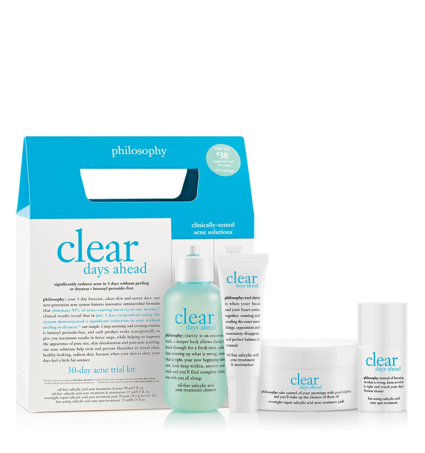 Philosophy Clear Days Ahead Acne System Skin Care Kit