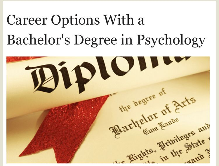 Career options with a bachelors degree in psychology in