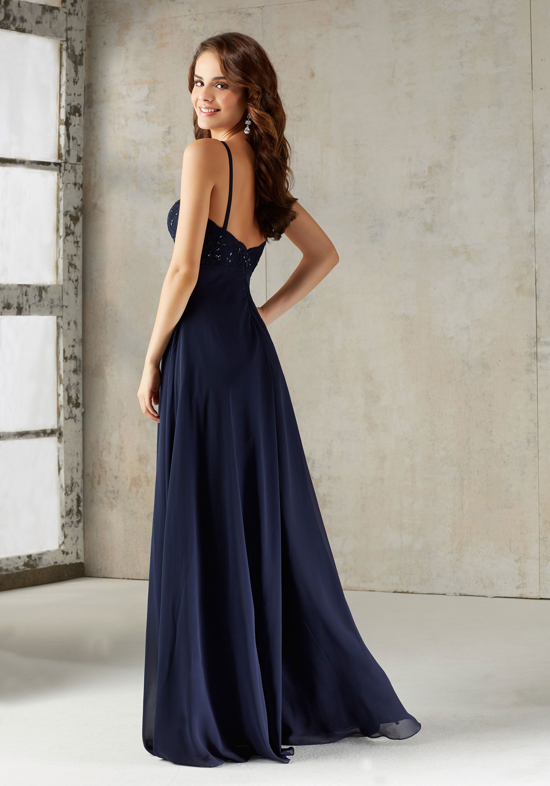 79a6f358487 Beaded Lace and Chiffon Bridesmaids Dress in 2019 | Bridesmaids ...