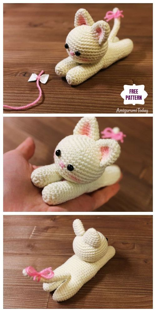 Photo of Crochet Lying Kitten Amigurumi Free Pattern #Amigurumi # Crochet #K …