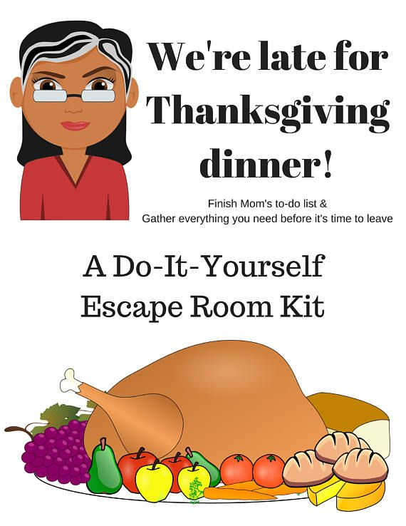 Were late for thanksgiving a diy escape room kit thanksgiving were late for thanksgiving a diy escape room kit solutioingenieria Choice Image