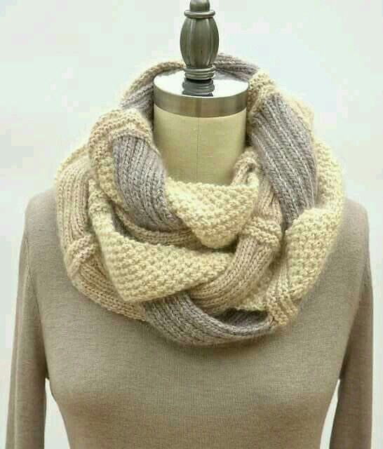 Pinterest: @aalaaaatya   Infinity scarf knitting pattern ...