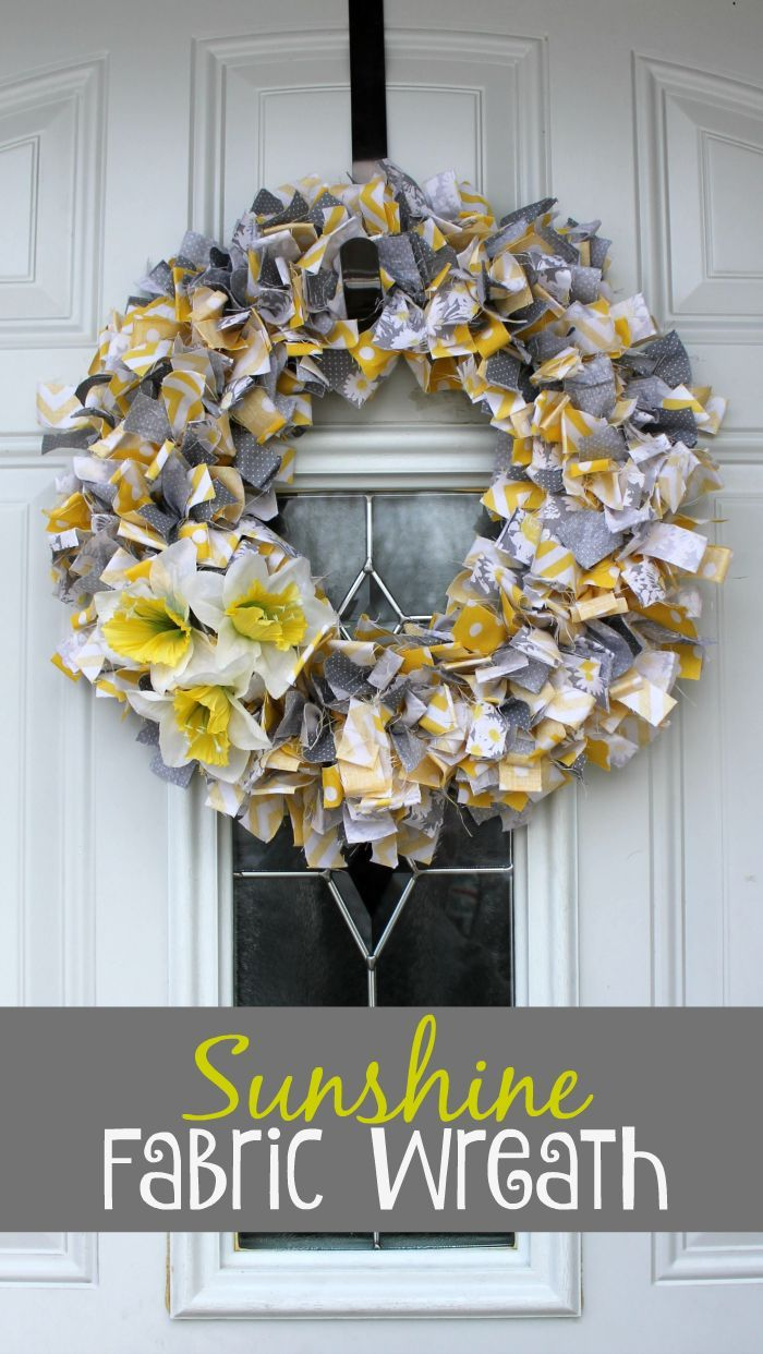 Photo of Sunshine Fabric Wreath