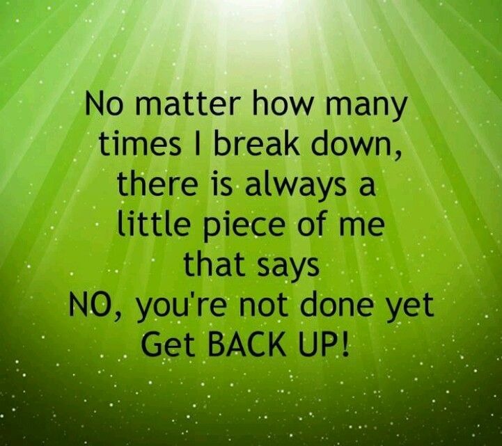 You're not done yet!!
