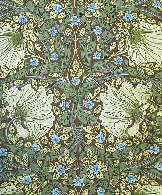 'Pimpernel' wallpaper design by William Morris, produced