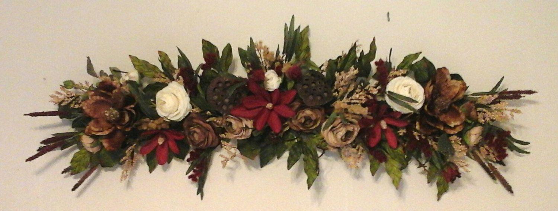 Fl Swag Silk Wreath Shipping Included Summer Magnolia Wall Arrangement