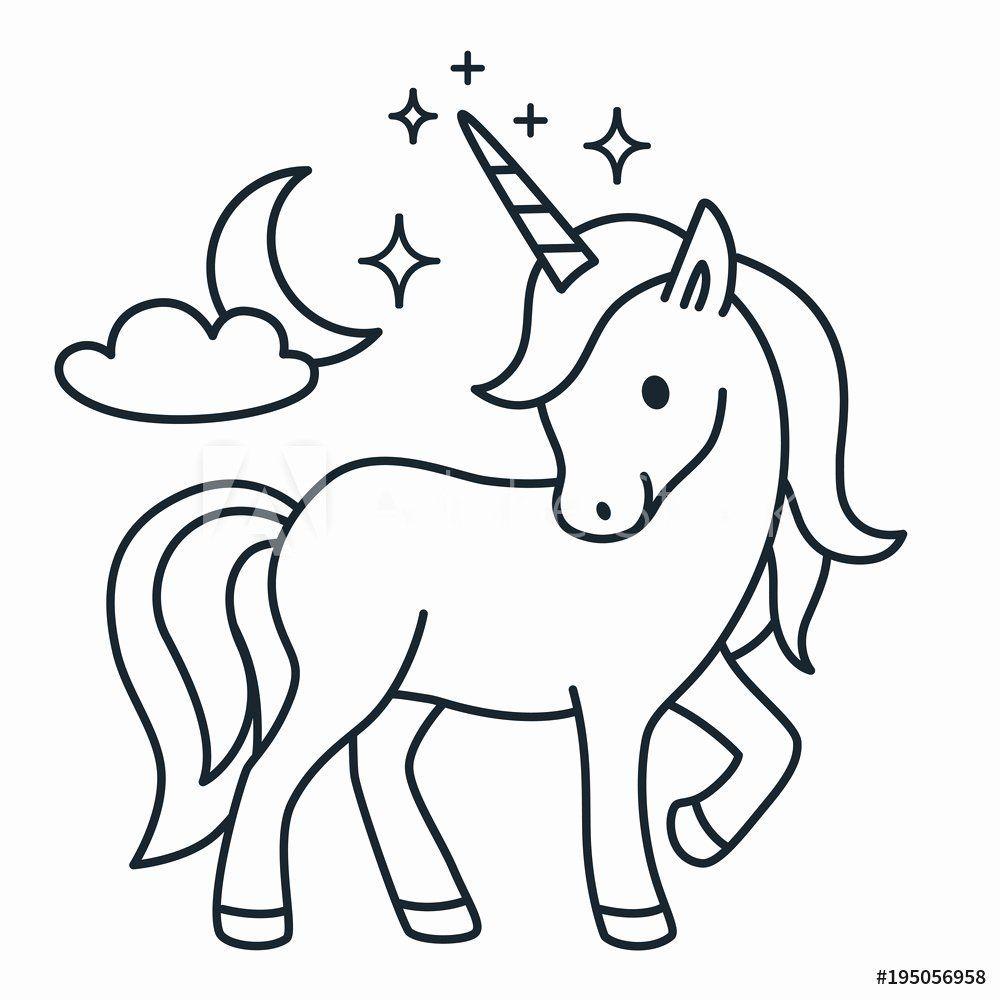 Coloring Book Animals Cartoon Inspirational Fotografie Obraz Cute Unicorn Simple Cartoon Vector Unicorn Drawing Cartoon Drawings Animal Coloring Books
