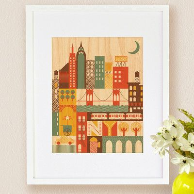 Petit collage new york small framed art