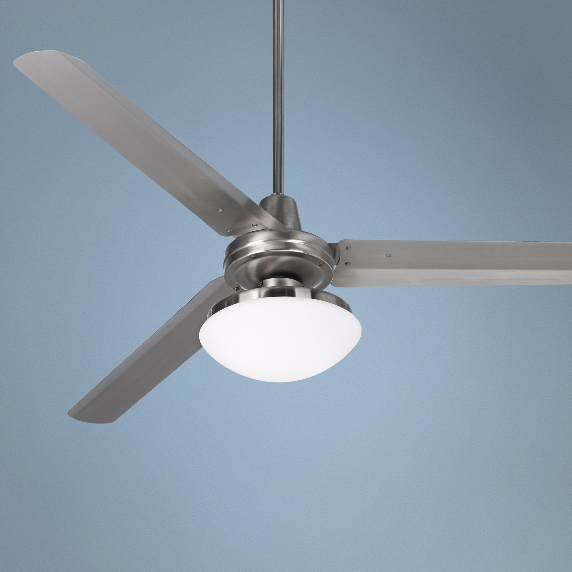"""60"""" Casa Turbina™ Opal Glass Industrial Ceiling Fan"""