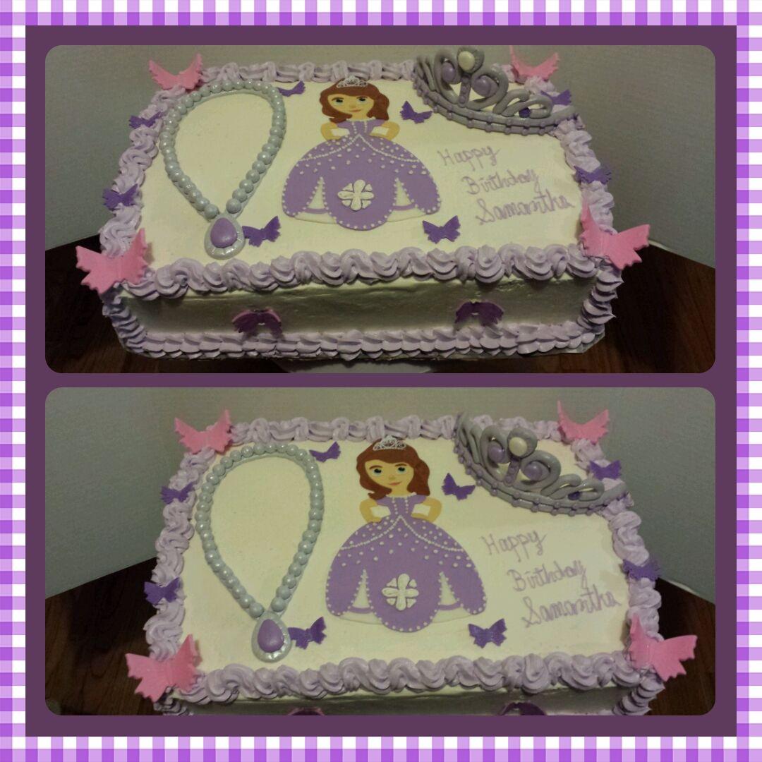 Sofia The First Flat Sheet Cake Sofia The First Birthday Cake