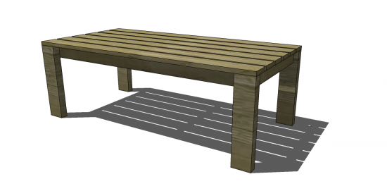 Free Diy Furniture Plans From The Design Confidential Reef Outdoor Coffee Table
