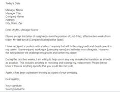 Two Weeks Notice Letters  Resignation Letter Templates  Read