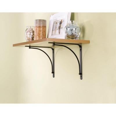H Black Arch Steel Decorative Shelf Bracket