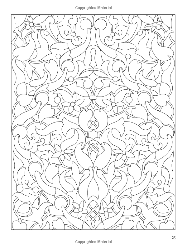 Arabic Floral Patterns Coloring Book (Dover Design