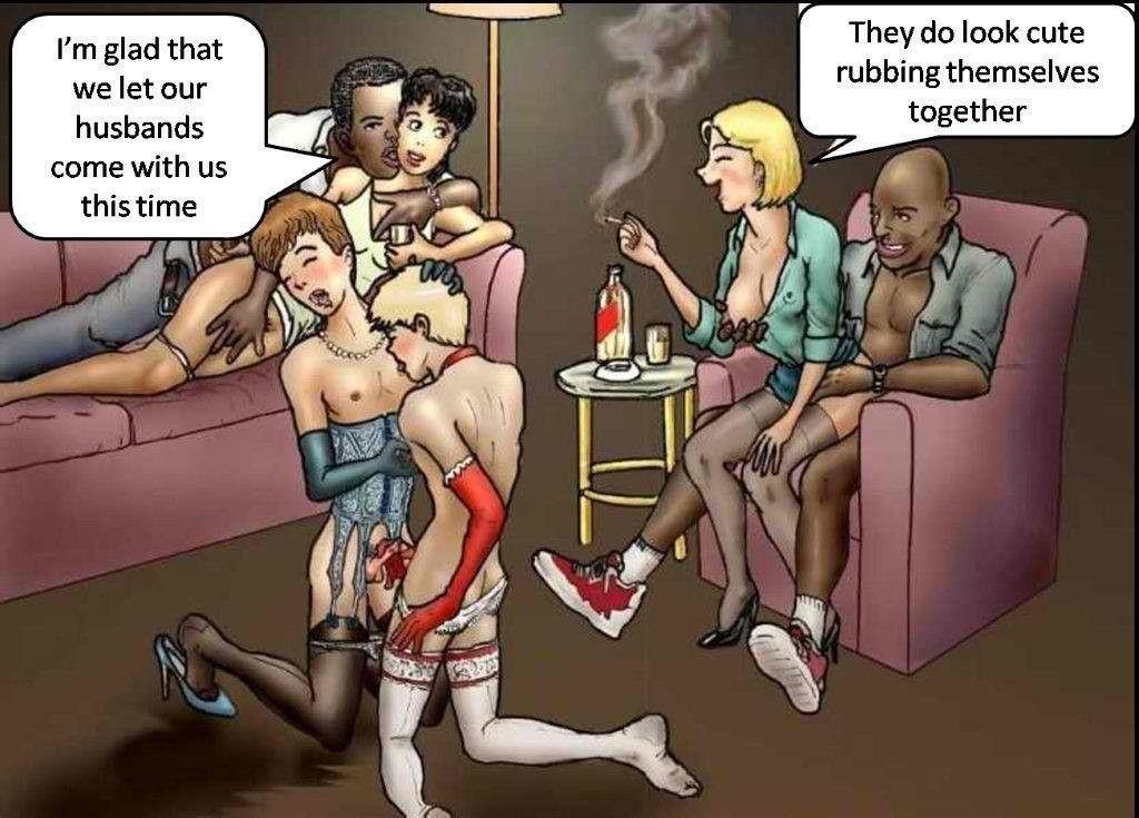 Interracial Sissy Cartoons