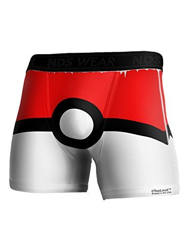 c8d26d839a1 TooLoud Sporty Red and White Circle Boxer Brief Dual Sided Small All Over  Print – Pokemon Mens Pants