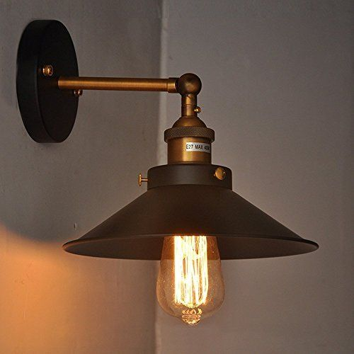 Lightess Wall Light Industrial Edison Wall Sconce Simplicity Adjustable Black Lamp Lighting Aged Steel Finished Wall Lights Retro Wall Lights Metal Wall Sconce