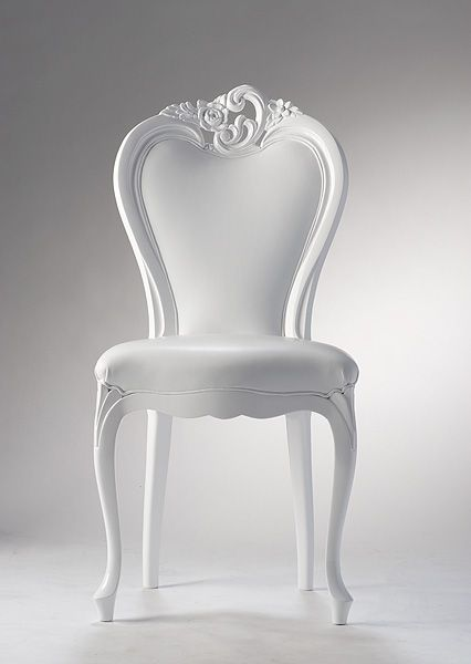 Versace All White Chair.....#uhome.in More