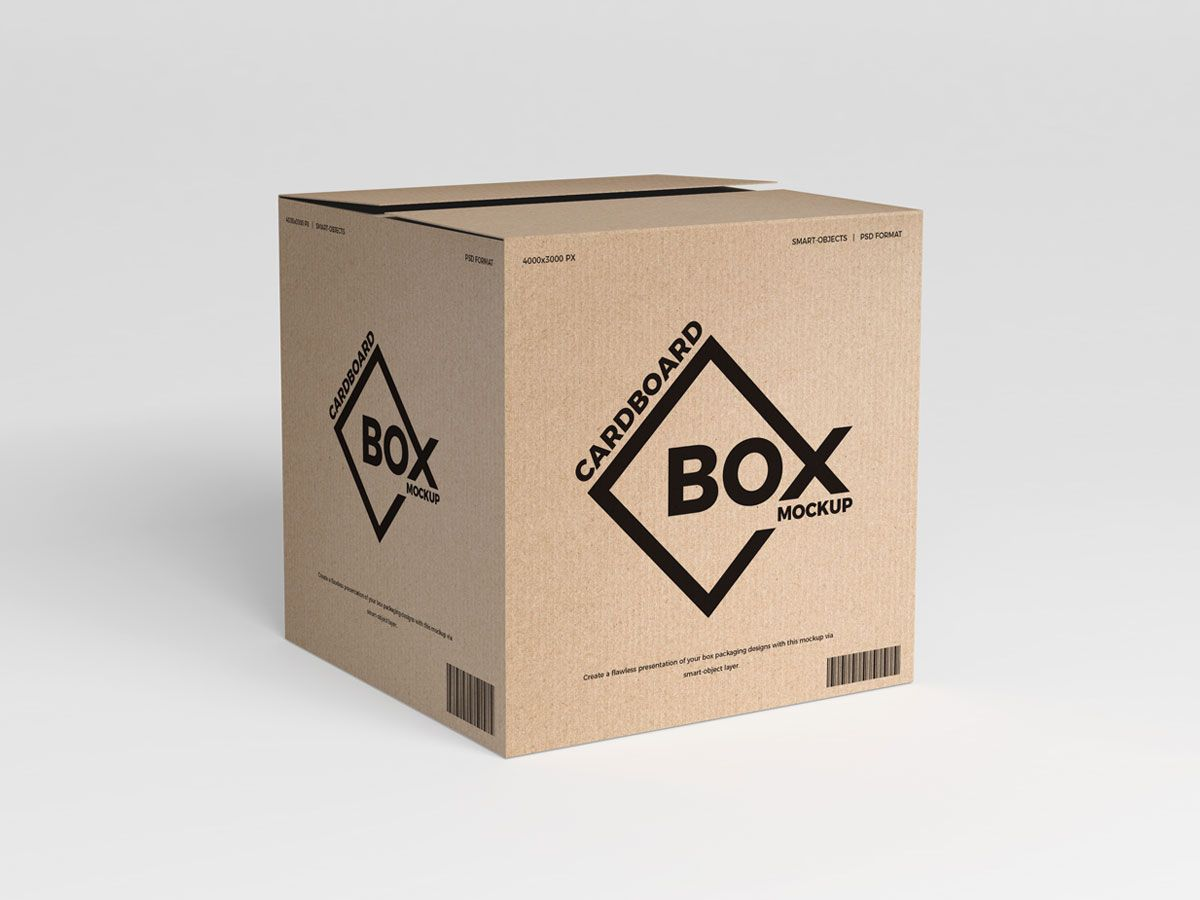Download Free Psd Cardboard Box Packaging Mockup In 2020 Free Mockup Templates Business Cards Mockup Psd Free Business Card Mockup