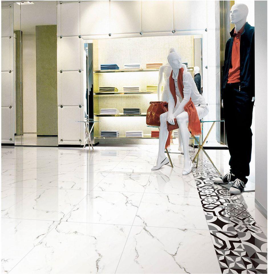 Only $22/m2! Venatino Carrara Marble Look Polished Glazed Tile ...