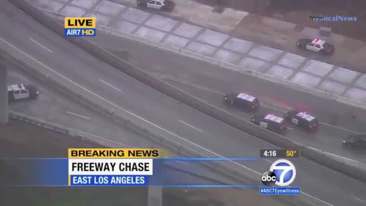 California High Speed Police Chase Armed Grand Theft Auto
