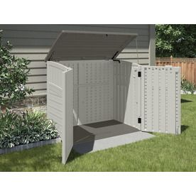 Shop Suncast Vanilla Resin Outdoor Storage Shed Common 53 In X
