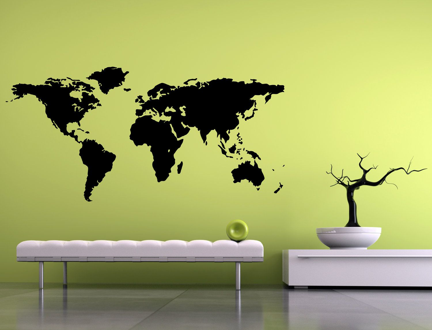 Wall Decal World Map 44\