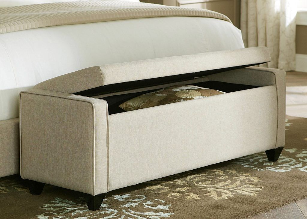 Upholstered Storage Bench With Drawers
