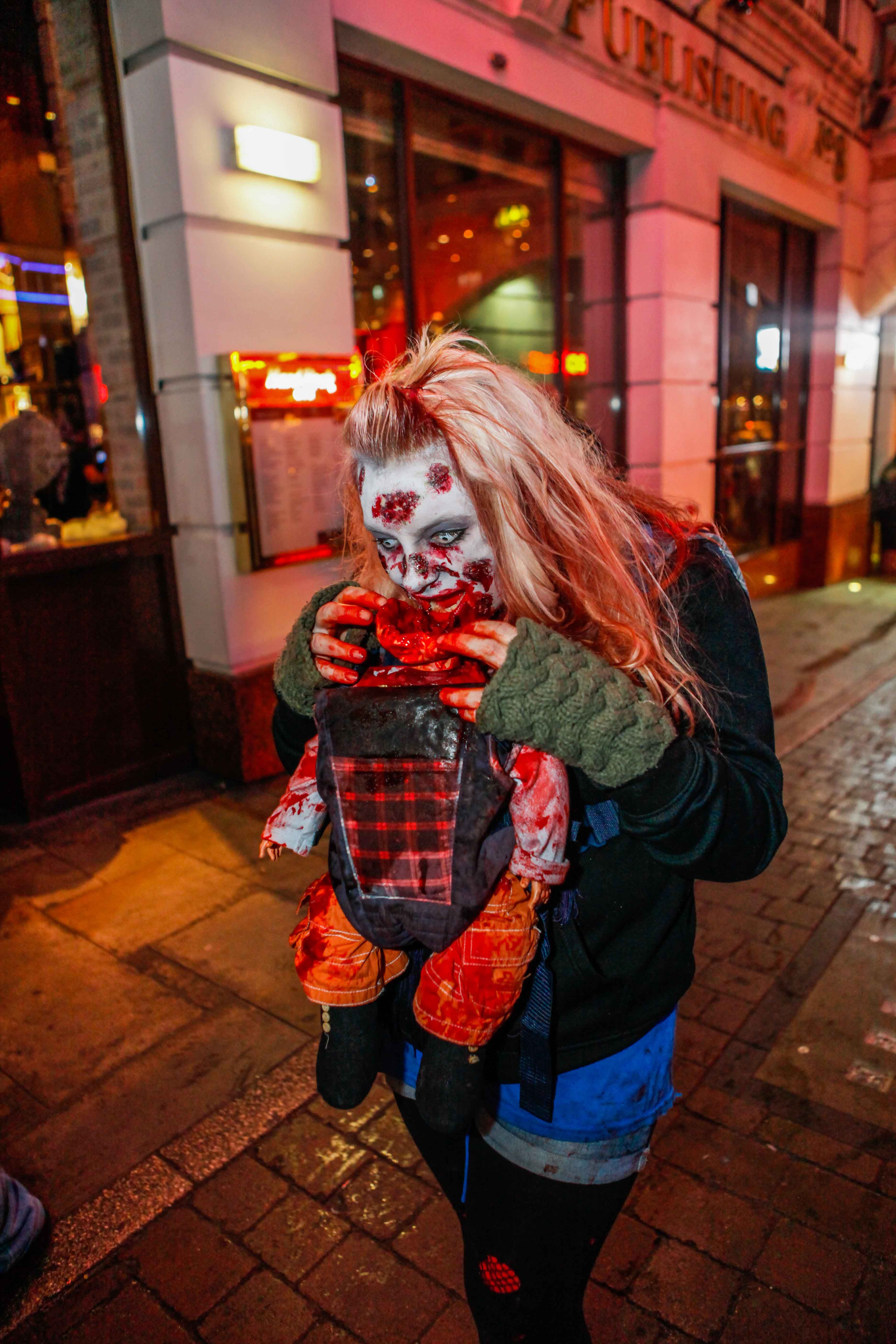 this costume gives us the creeps !! mcrzombie walk The