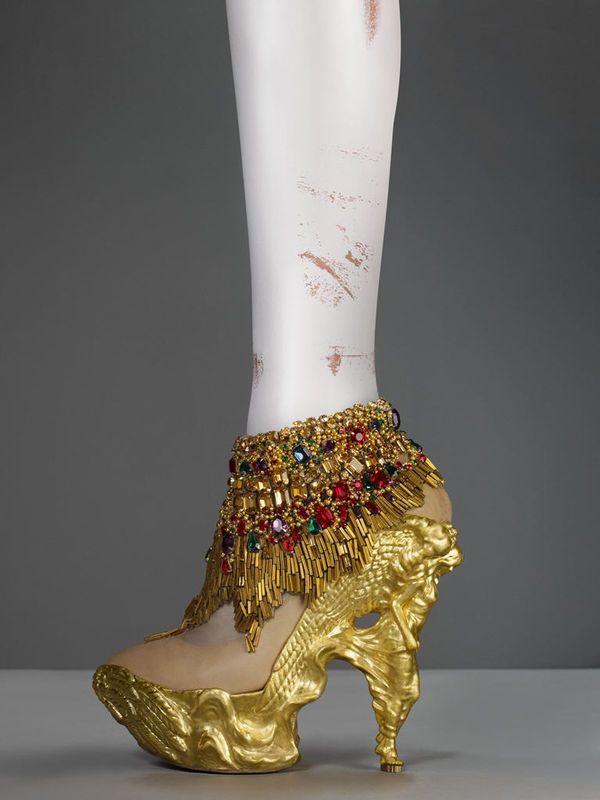 Chaussures En Cuir De Broderie Papillon Automne / Hiver Alexander Mcqueen iXzqfp