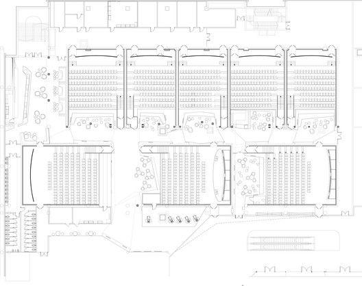 Gallery Of Kronverk Cinema Robert Majkut Design 1 Cinema Design Cinema Architecture Mall Design