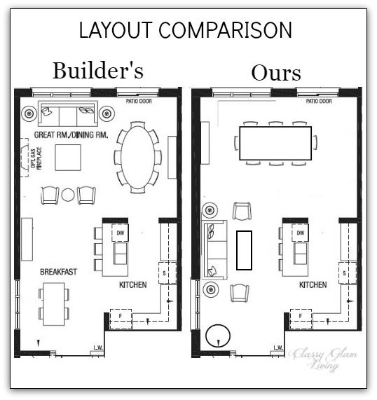 Living Room Layouts Comparison Classy Glam Living Big Living Room Layout Living Room Floor Plans Big Living Rooms