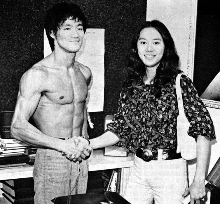 When Nora Miao was in school, she and Bruce's younger
