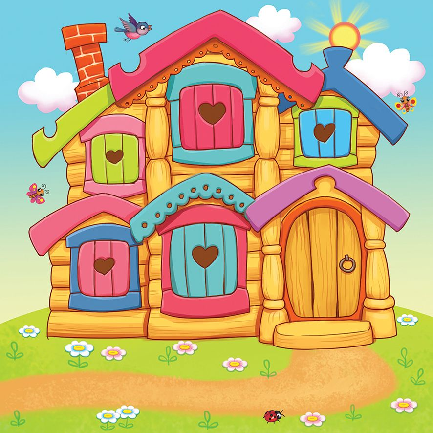 Рисунок сказочного домика для детского сада