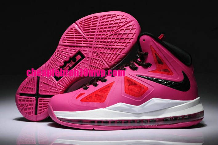 official photos ce368 eacf2 LeBron 10 GS Womens Pink White Black Cheap Lebron James Shoes