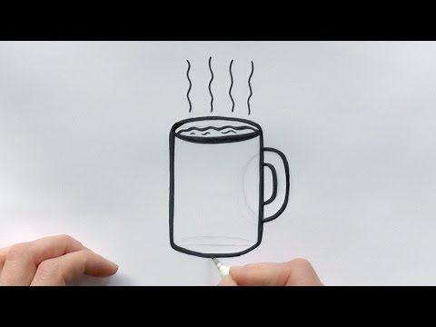 How To Draw A Cartoon Cup Of Coffee Coffee Mug Drawing How To Order Coffee Coffee Cups