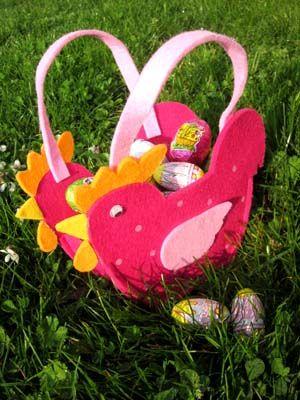 Diy panier poule de p ques easter easter art and origami - Bricolage enfant paques ...