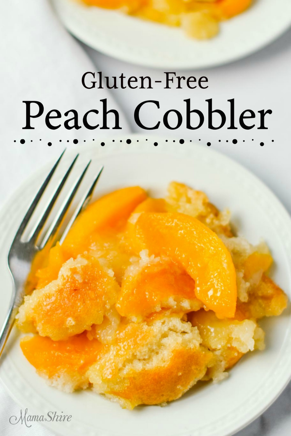 Easy Gluten-Free Peach Cobbler Recipe This easy to make gluten-free peach cobbler tastes incredible. It'll quickly become a favorite! Use with fresh, frozen, or canned peaches. Dairy-free.