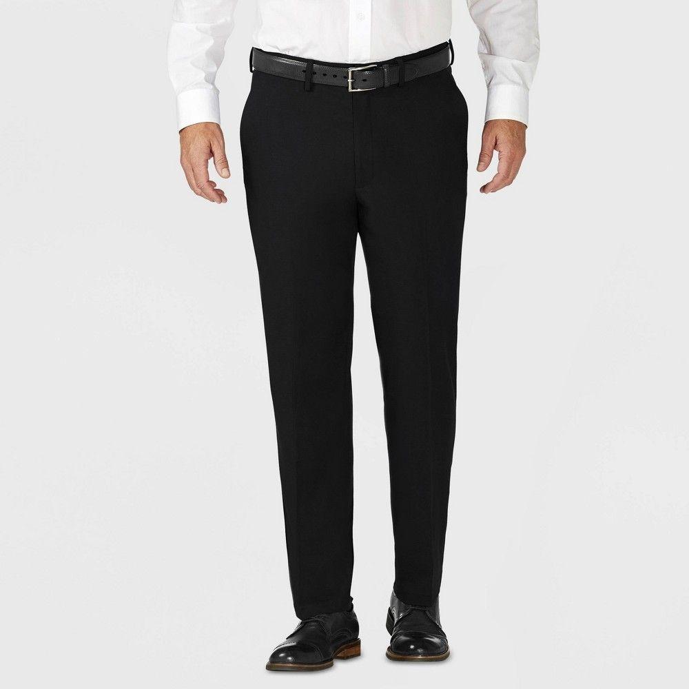 Haggar H26 Men S Tailored Fit Premium Stretch Suit Pants Black 32x34 Pantsuit Suits Black Pants [ 1000 x 1000 Pixel ]