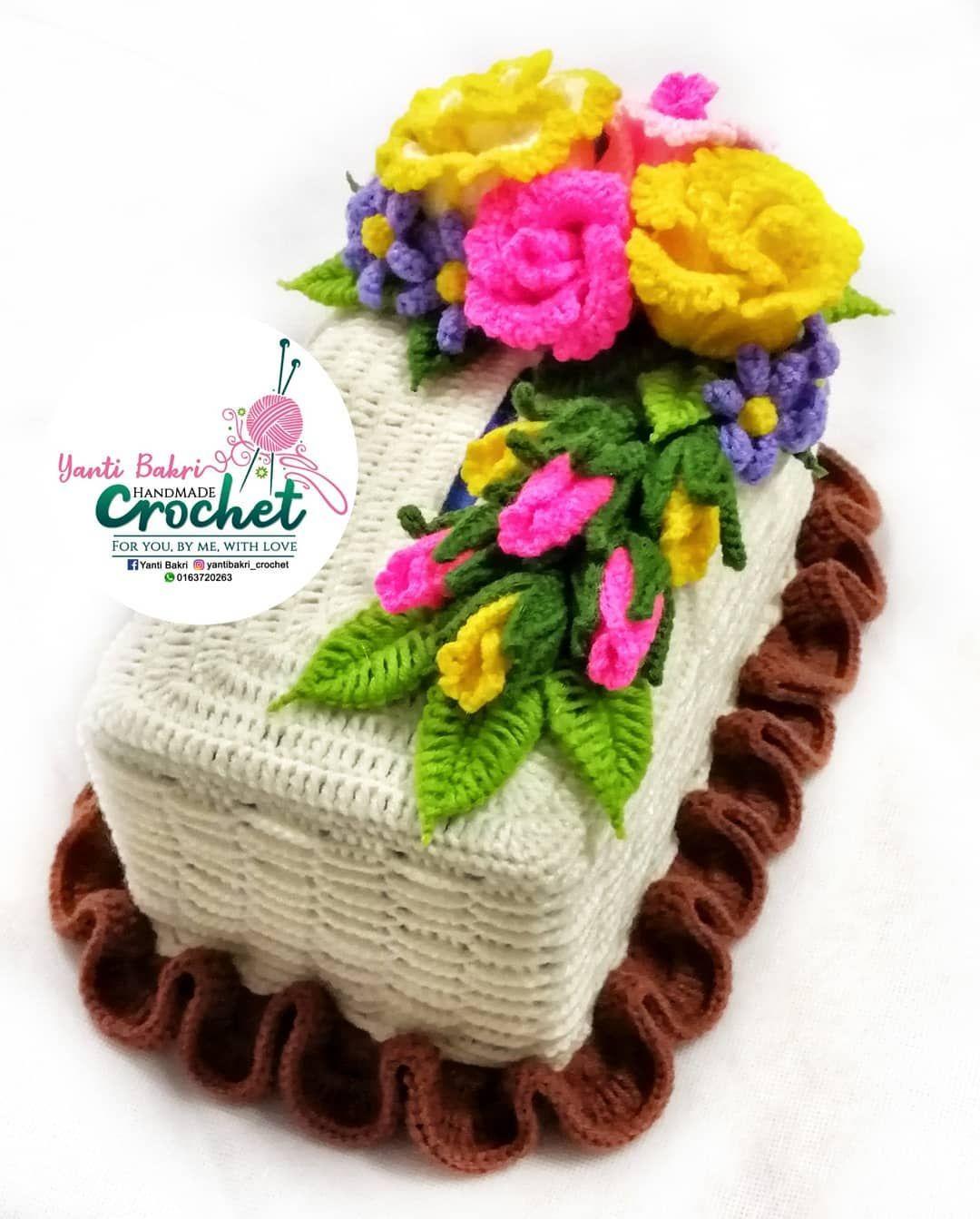 Kotak Tissu : kotak, tissu, ✨SARUNG, KOTAK, /TISU, COVER✨, 👉100, Handmade, Crochet, 👉Materia, Crochet,, Knitted, Blankets,, Covered, Boxes