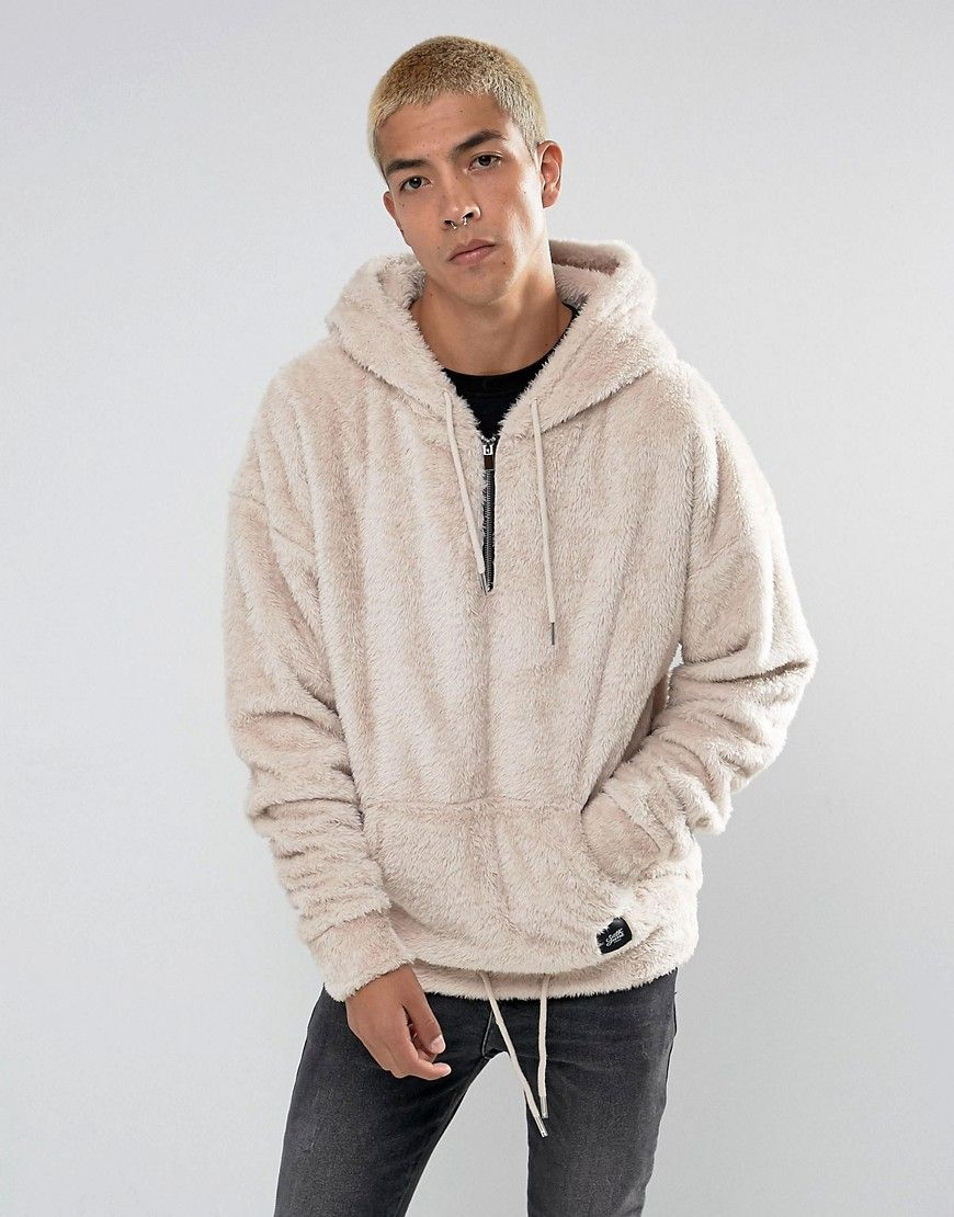 dc2b4b84 Sixth June Super Hoodie In Stone Fluffy Borg in 2019 | Fashion ...