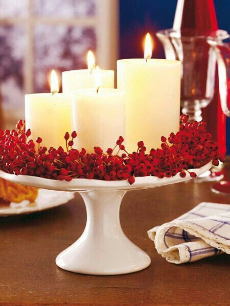 Red and White Christmas Decor, Inspiration, and DIYs as part of the 12 days of Christmas series featuring beautiful inspiration for the holidays.