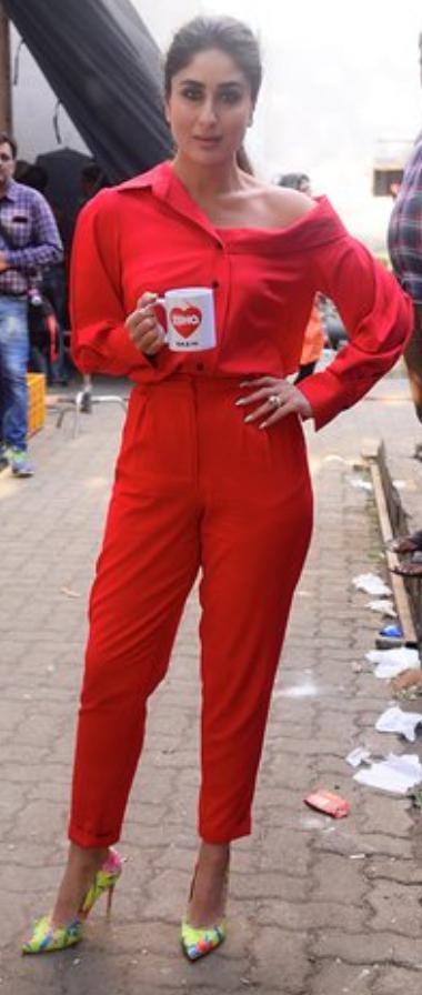 Kareena In Red Jumpsuit Red Jumpsuit Jumpsuit Beautiful Actresses