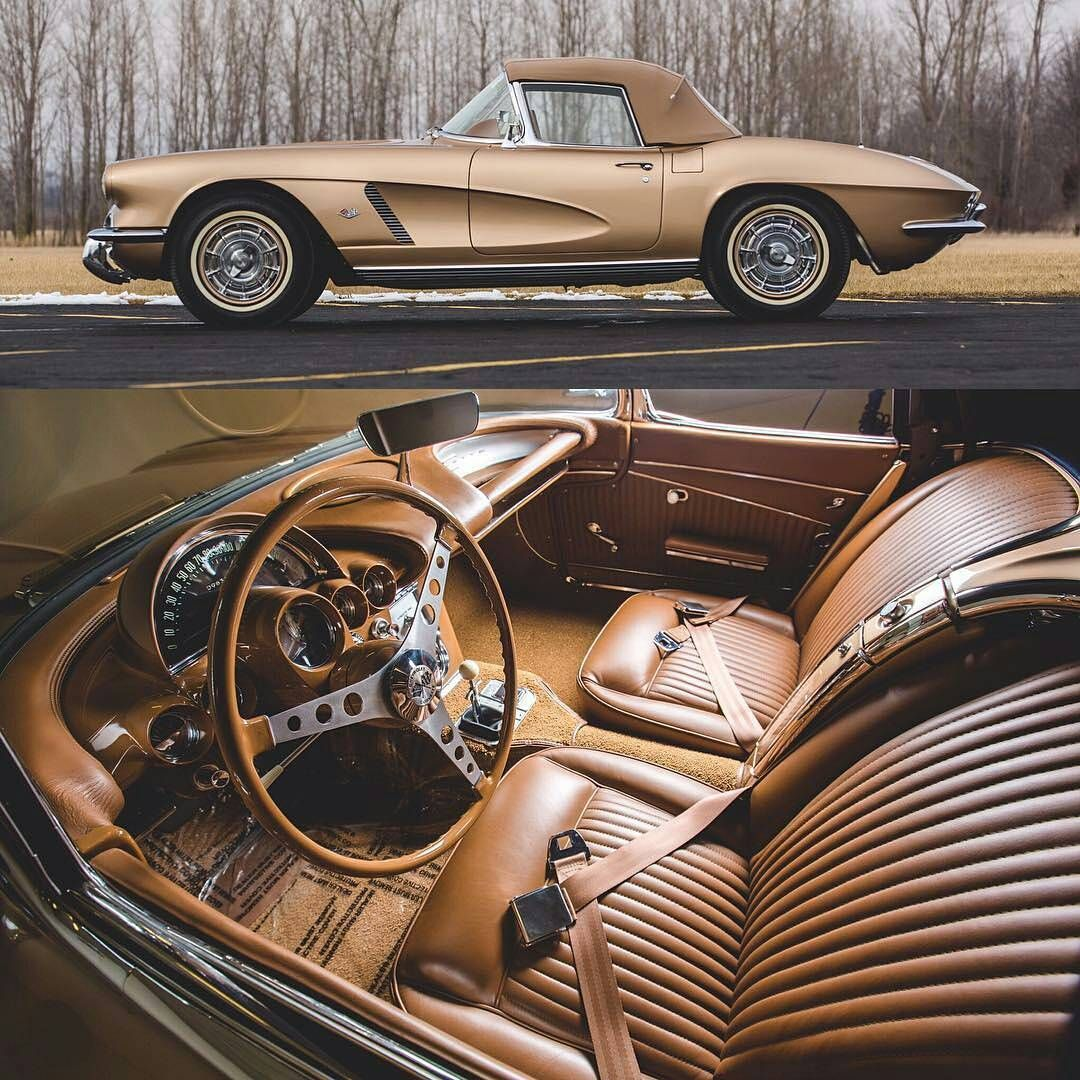 Gold On Gold 1962 Chevrolet Corvette Styling Car Klassicheskie Avtomobili Retro Avtomobili Ekzoticheskie Avtomobili