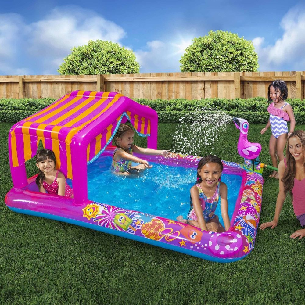 Inflatable water play center kids swimming pool 74 l for Kids swimming pool