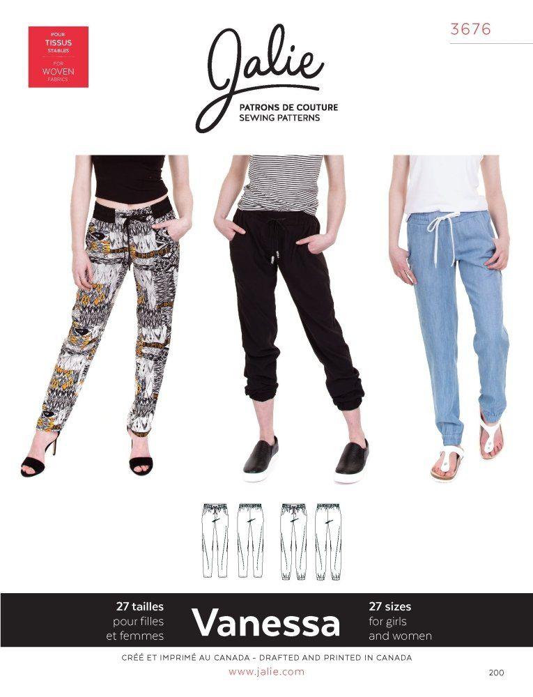 Jalie - Vanessa Fluid Pants | Sewing | Pinterest