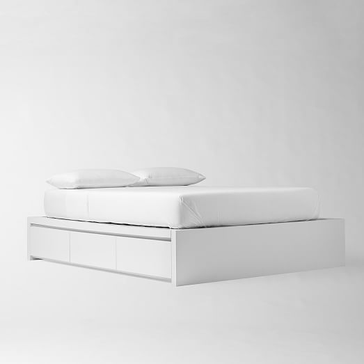 Storage Platform Bed Collection White West Elm White Bed
