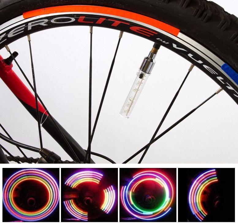 4X LED Lamp Tyre Wheel Valve Cap Light For Car Bike Bicycle Motorcycle~